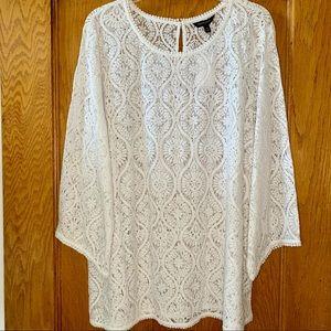 NWT Banana Republic White lace Coverup SizeXL
